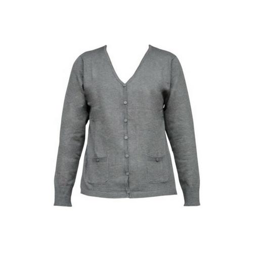92cbfeb7 Strik cardigan lys grå | MIXED