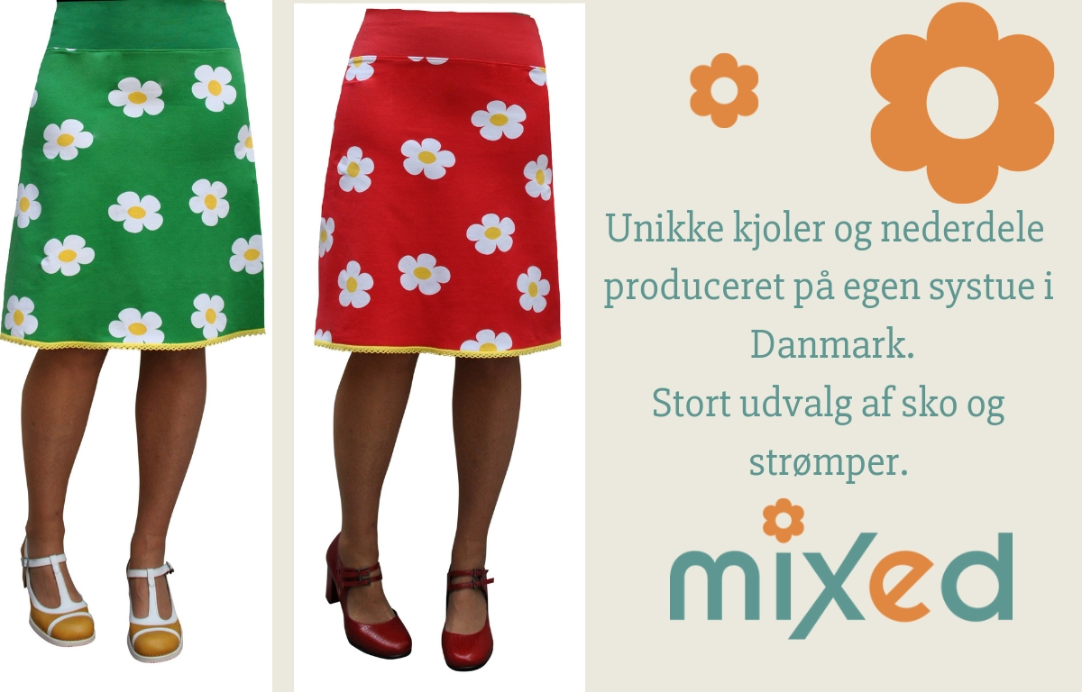 mixed nederdel