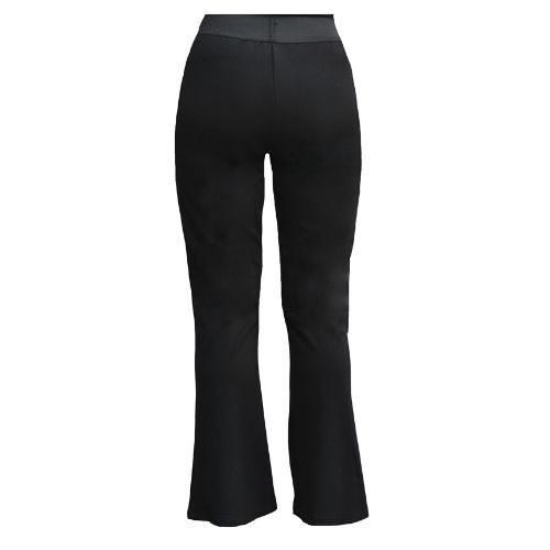 Bukser med stræk og bootcut sort